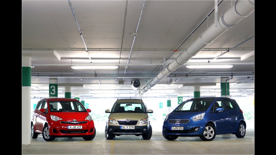 Packen, fahren, sparen: Drei Minivans im Vergleichstest