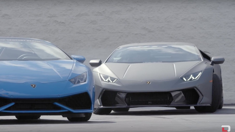 Sam ve Stina Hubinette'in Lamborghini Huracan drifti