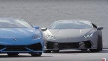 Sam et Stina Hubinette drift avec leur Lamborghini Huracan