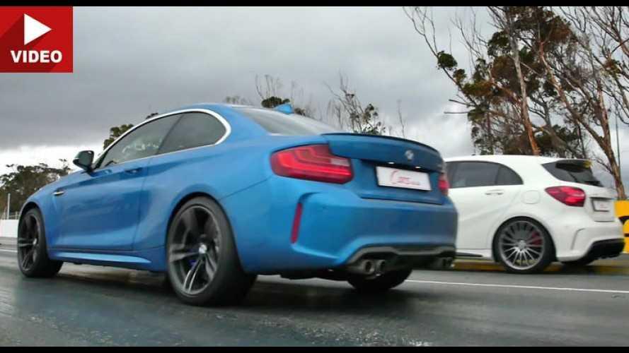 É racha! Novo BMW M2 desafia Mercedes A45 AMG na arrancada (vídeo)