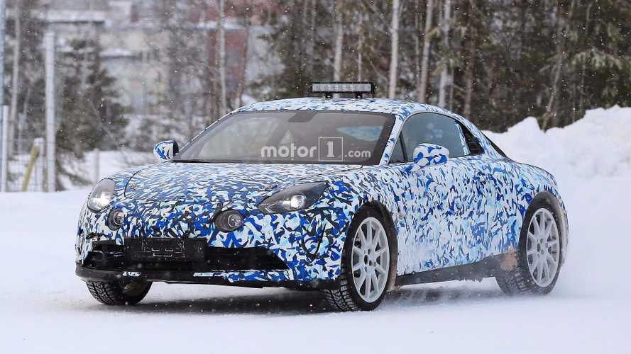 Alpine A120 - Les photos des essais sur neige !