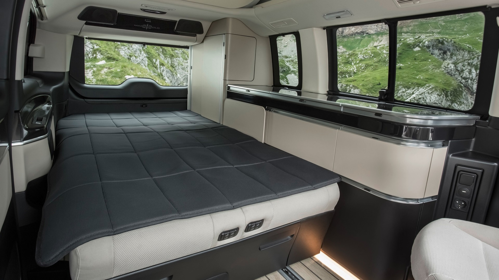 Posh Mercedes Marco Polo camper has \'yacht wood\' floors