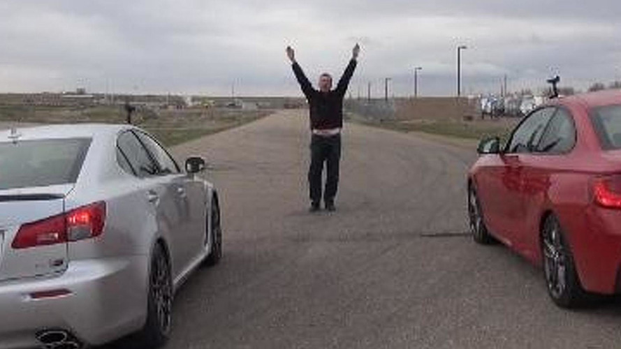 Drag race: BMW M235i vs. Lexus IS F [video]