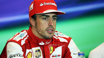 Fernando Alonso (ESP) Ferrari in the FIA Press Conference