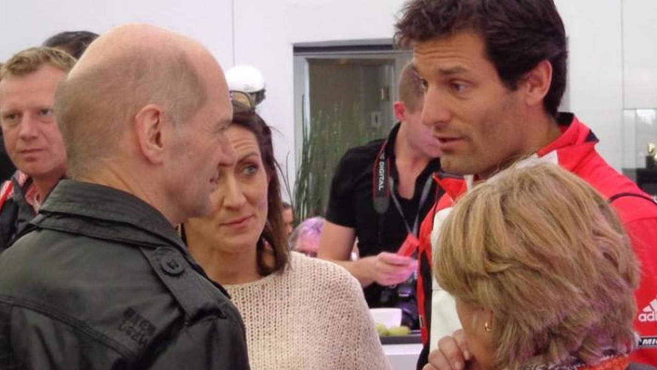 Adrian Newey with Mark Webber at Silverstone / speedweek.com
