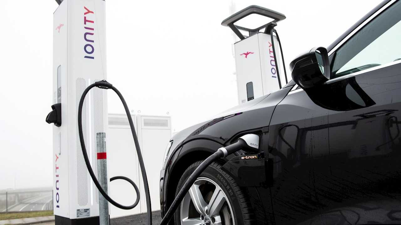 ABB's high-power chargers at IONITY fast charging station
