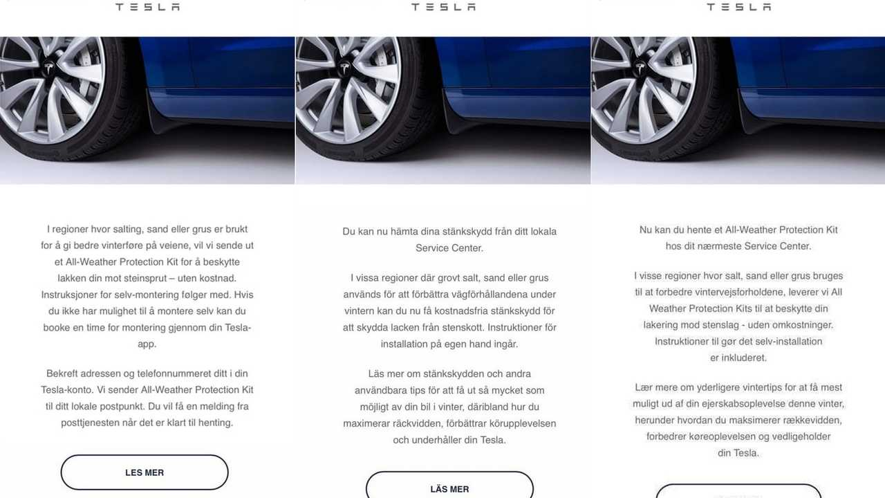 Tesla All-Weather Kit Strategy Now Hits Scandinavia, And Finland