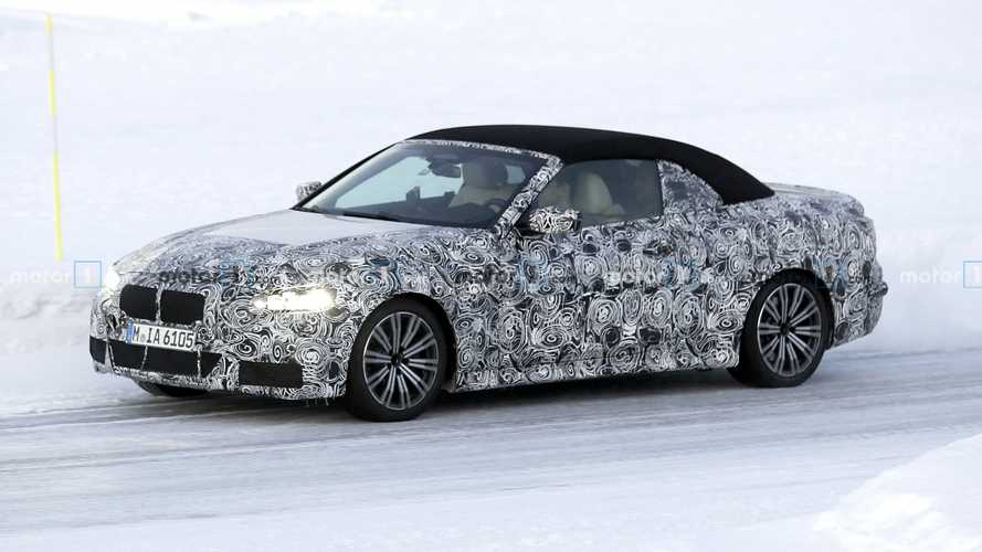 2021 BMW 4 Series convertible spied slicing through snow in Sweden