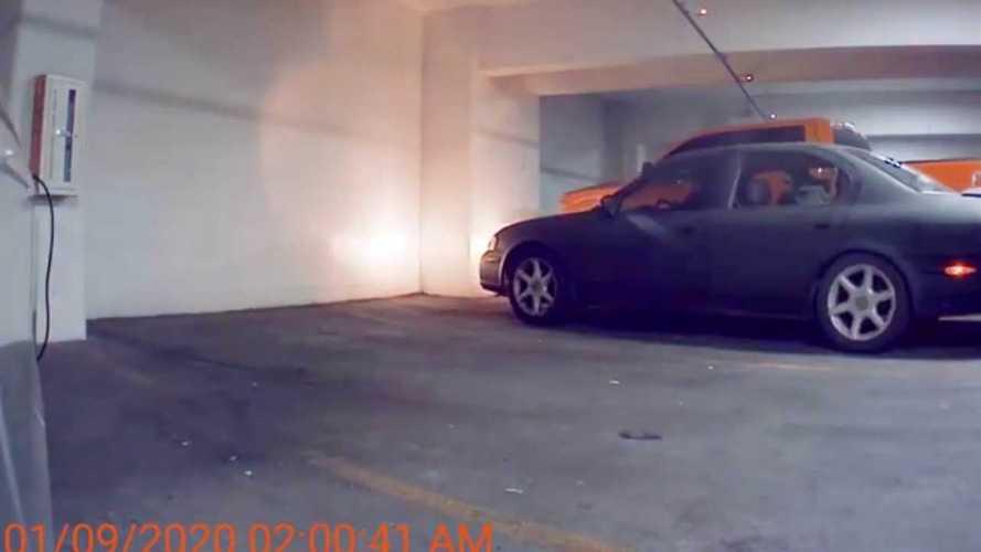 Tesla Sentry Mode Films Vandals Trying To Break Charging Plug