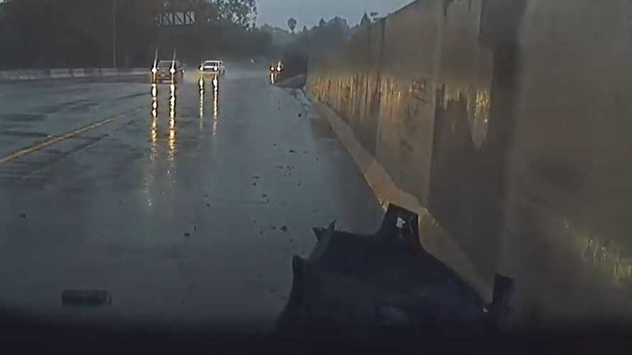 Tesla Model 3 Driver Says Car Crashed Itself: Hydroplaning Instead?