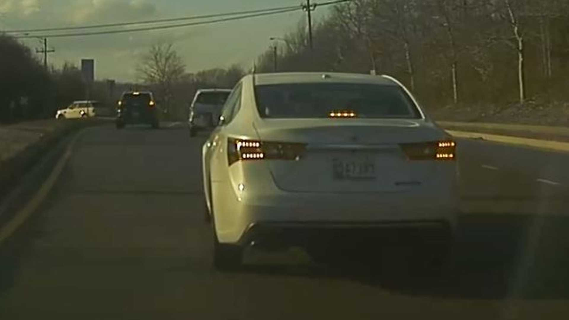 Watch This Car Cut Off And Purposely Brake Check A Tesla