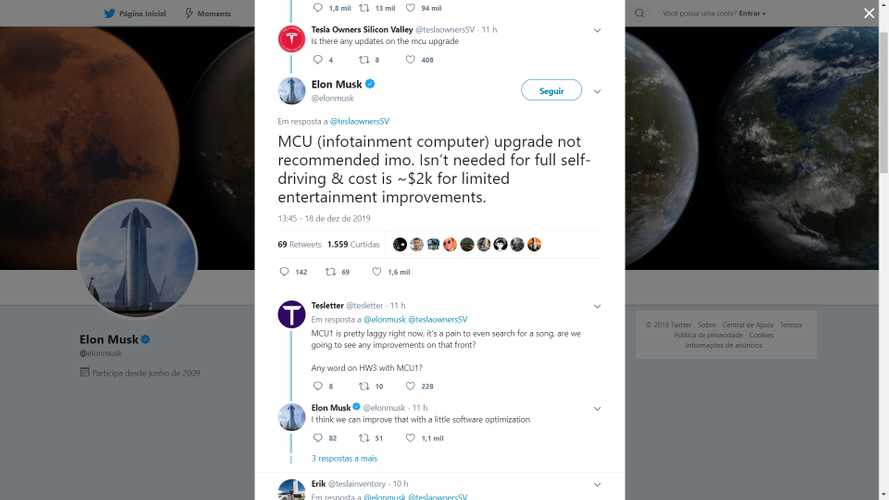 While Elon Musk Dismisses MCU Upgrade, Twitter Followers Fight For It