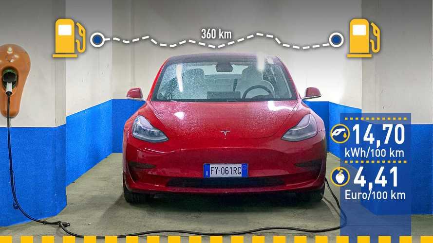 Tatsächlicher Verbrauch: Tesla Model 3 im Test