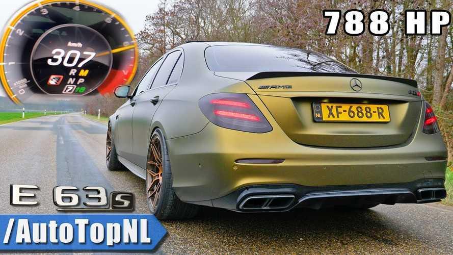 Mercedes-AMG E63 S'in bir süper otomobil gibi hızlanışını izleyin