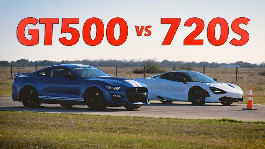 Shelby GT500 races McLaren 720S in David vs Goliath showdown
