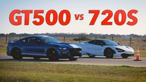 Shelby GT500 Versus McLaren 720S At Hennessey Performance