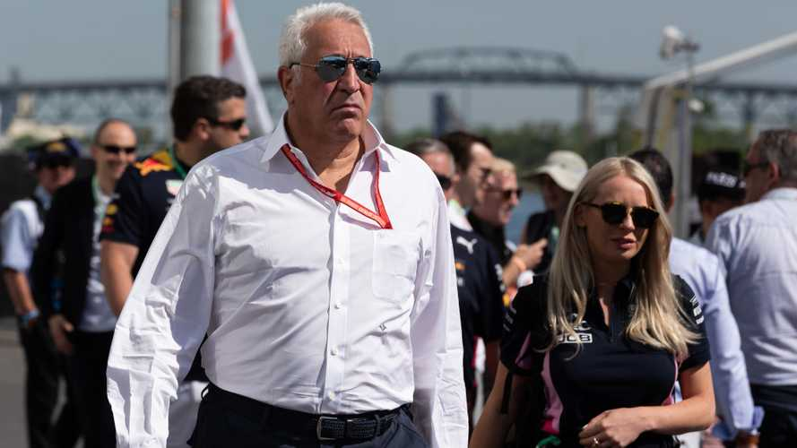 Racing Point owner Lawrence Stroll walking though the paddock at circuit Gilles Villeneuve Montreal Canada 2019