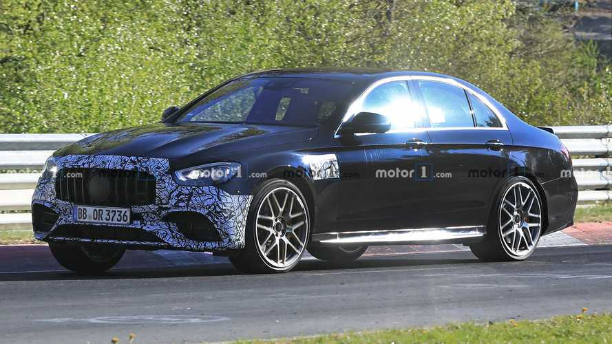 2021 Mercedes-AMG E63 Saloon spied with minimal camouflage