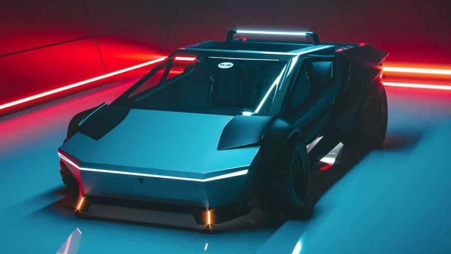 Watch This Low-Slung, Racy Tesla Cybertruck Come To Life