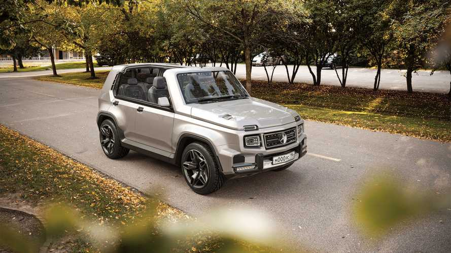 Mercedes G-Serisi ile Lada Niva'nın ortak modeli olsa nasıl görünürdü?
