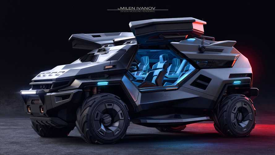 Bonkers Armortruck SUV Concept Looks Like Something From Halo