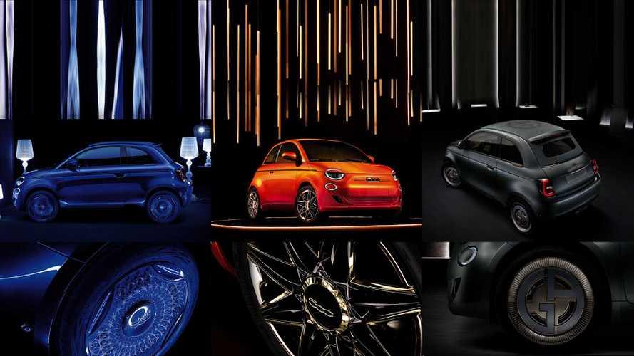 Fiat 500 elettrica, tre serie speciali in omaggio al Made in Italy