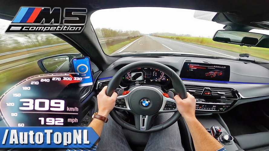 Így sprintel 0-ról 309 km/órás sebességre a BMW M5 Competition