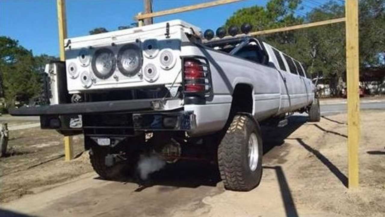 This 37-Foot Stretched Dodge Ram Pickup Can Be Your Redneck Chariot