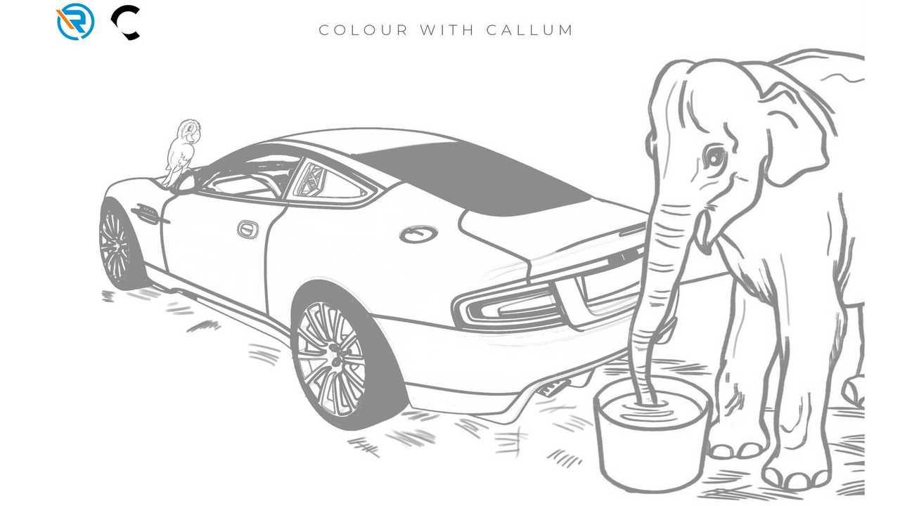 Aston Martin Vanquish 25 Coloring