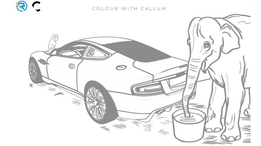 Famous Aston Martin design available for quarantined kids to colour