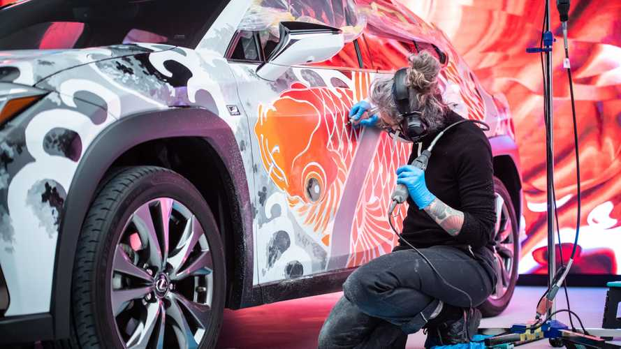 Lexus claims to have built the world's first tattooed car