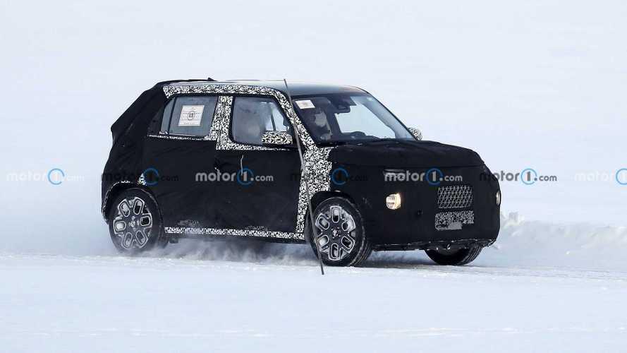 Hyundai AX-1: cazado en la nieve en fase de pruebas
