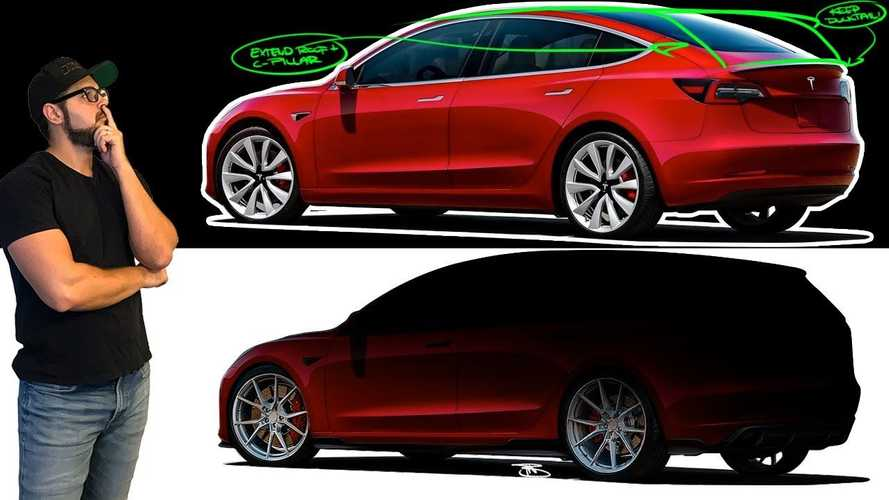 Check Out This Tesla Model 3 Wagon Rendering