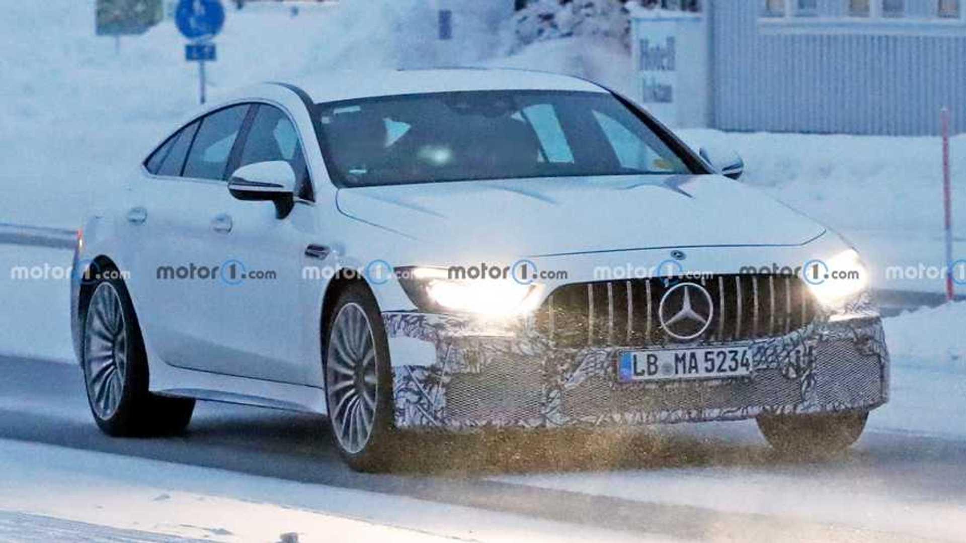 Mercedes-AMG GT73e Spy Shots Lights On