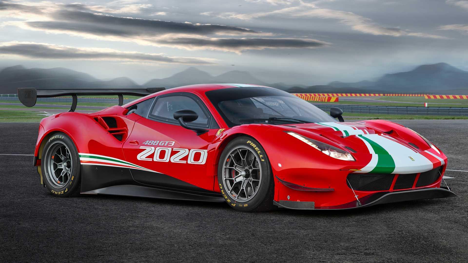 2020 Ferrari 488 GT3 Evo debuts with aero upgrades, longer wheelbase