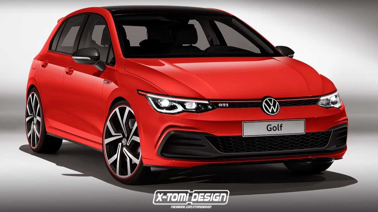 2021 VW Golf GTI rendering