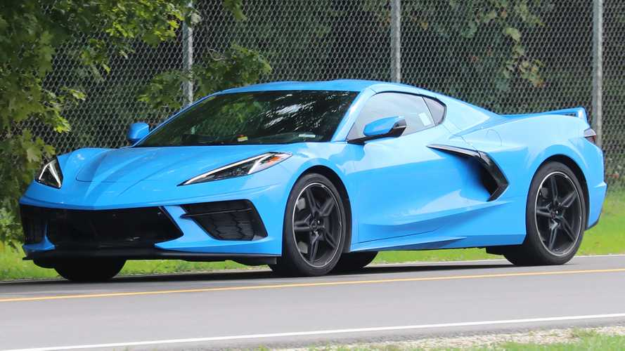 2020 Corvette Spied In Rapid Blue Better Watch Out For Gargamel