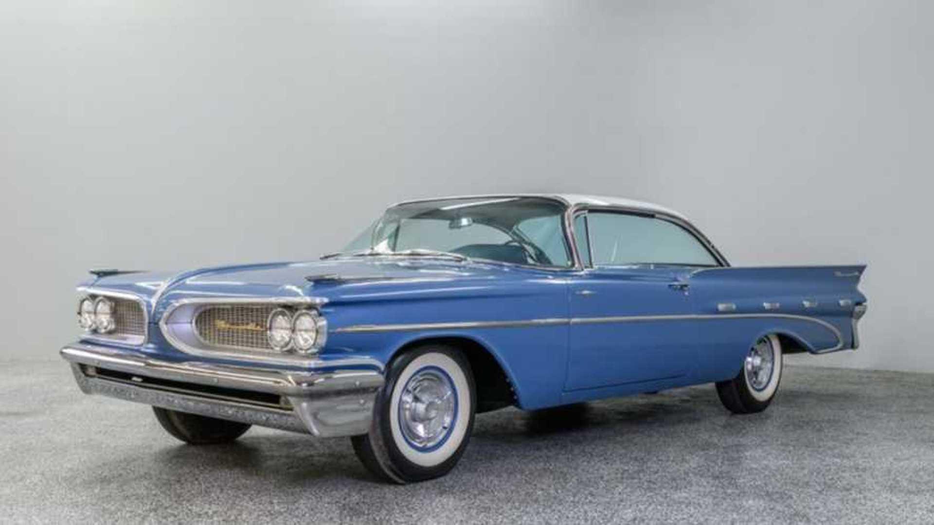 """[""""Buy A Blue 1959 Pontiac Bonneville Sports Coupe""""]"""