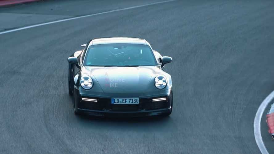 New Porsche 911 Turbo spied going flat out at the 'Ring