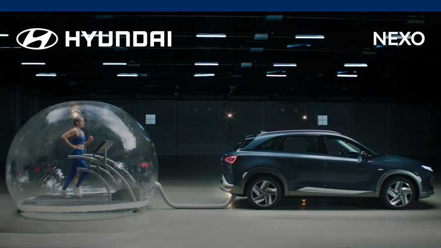 See Spanish athlete train while breathing Hyundai Nexo exhaust