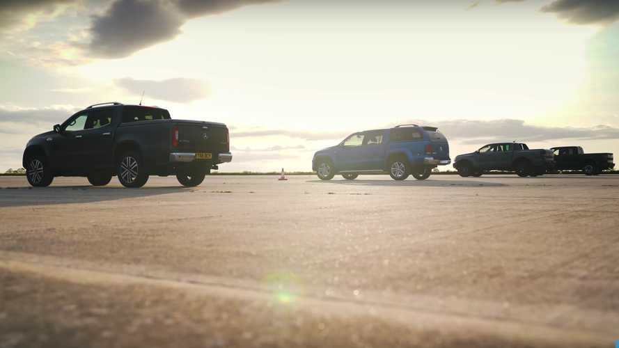 Ford Ranger Raptor Drag Races F-150 Raptor, Amarok, X-Class