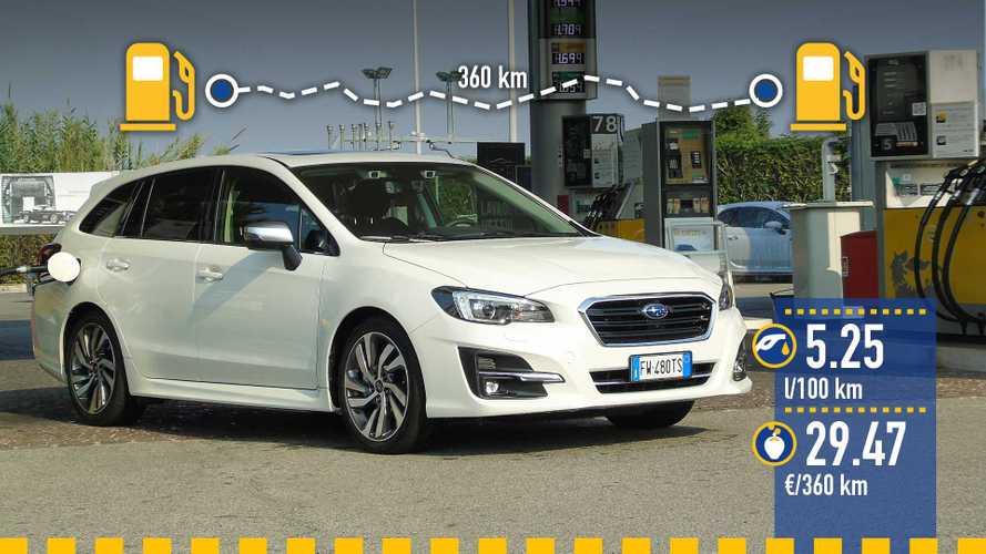 Subaru Levorg 2.0i, la prova dei consumi reali