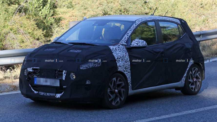 2020 Hyundai i10 N Line spied hiding sporty styling