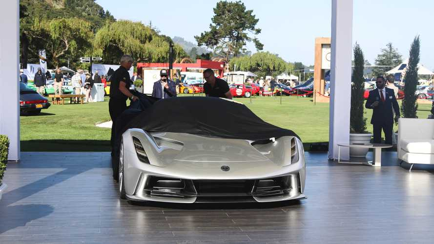 Lotus Evija unveil at the Monterey Car Week