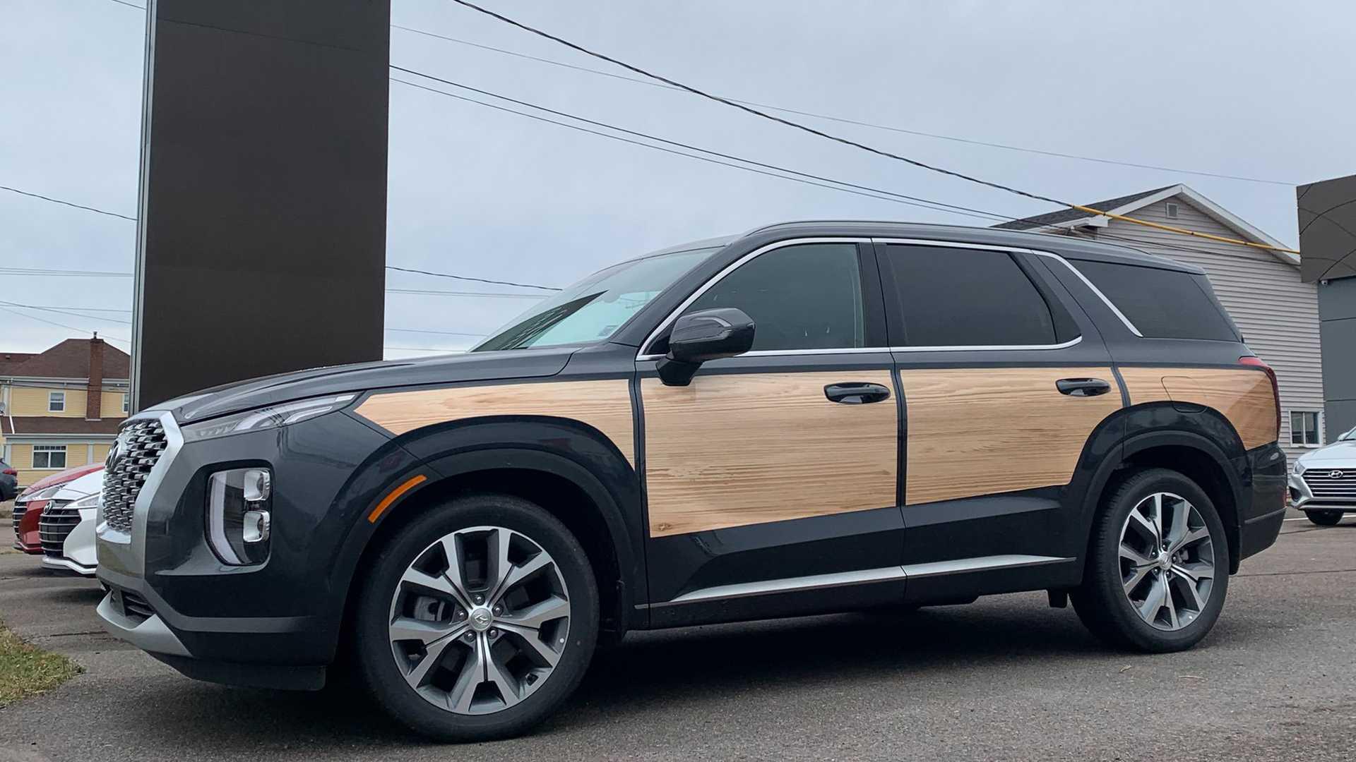 Hyundai Palisade Woody Spotted At Nova Scotia Dealer Because Canada