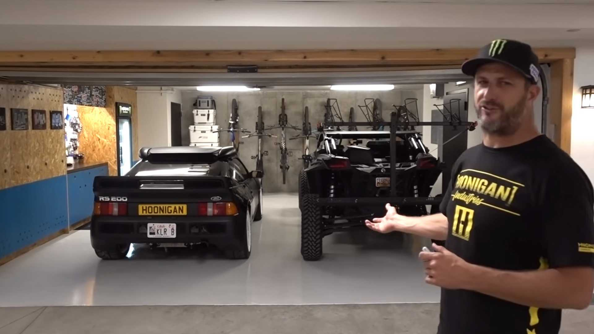 Ken Block's home garage is surprisingly tasteful but still on-brand