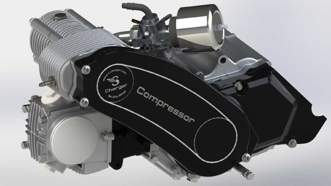 Small-engine supercharger
