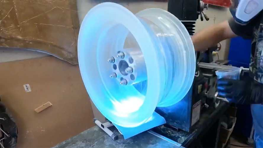 Watch Car Wheel Made Out Of Clear Epoxy Get Put To The Test