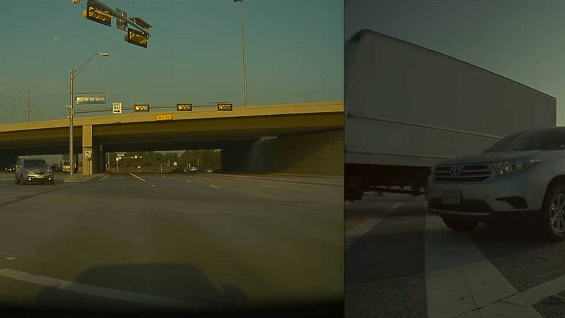 TeslaCam Shows What Can Happen When A Truck Blows A Red Light