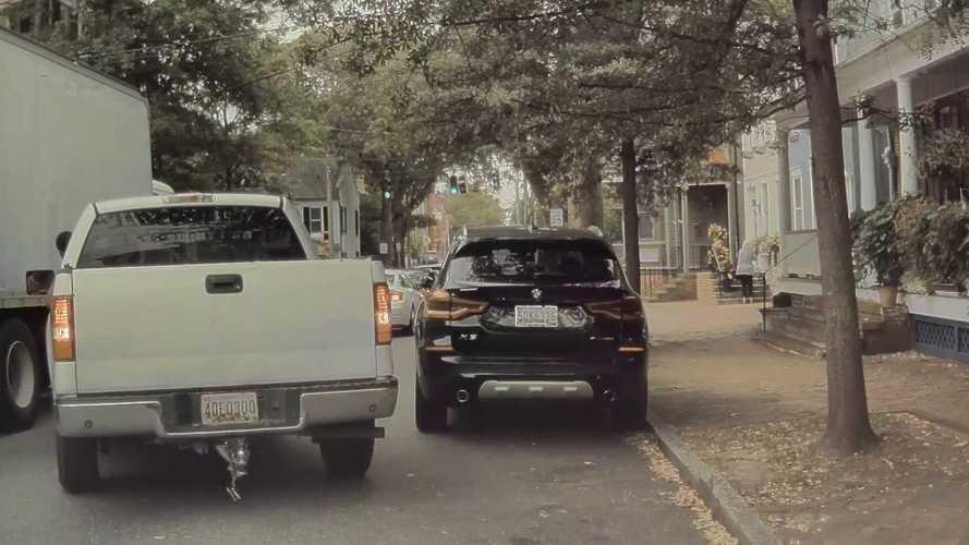 Parallel Parking Gone Wrong: Pickup Truck Backs Into Tesla, Flees